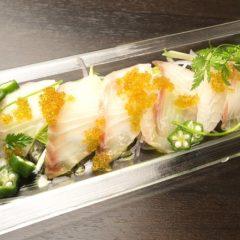 白身魚のカルパッチョ  580円