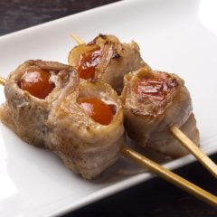 プチトマトの豚巻き (1本)200円